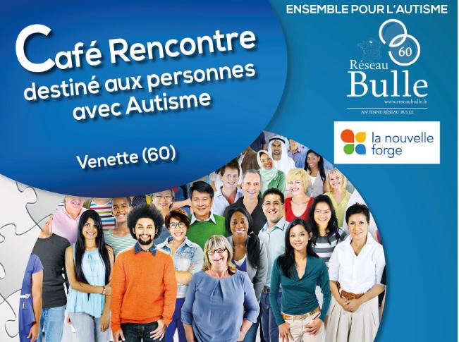Café rencontre destiné aux personnes avec autisme 23 novembre de 14h30 à 17h