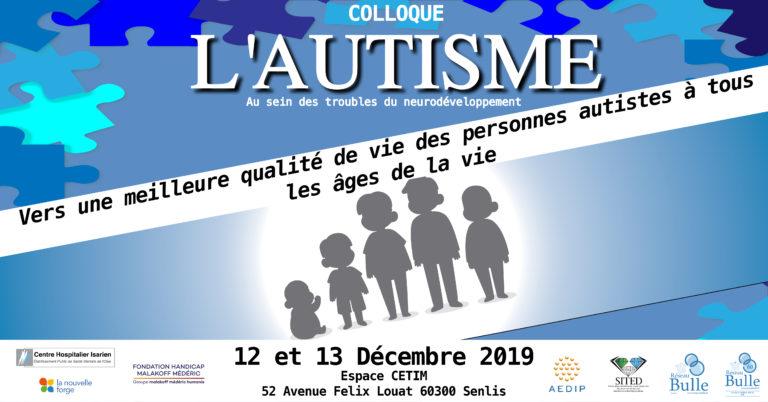 Colloque autisme 12 et 13 décembre 2019